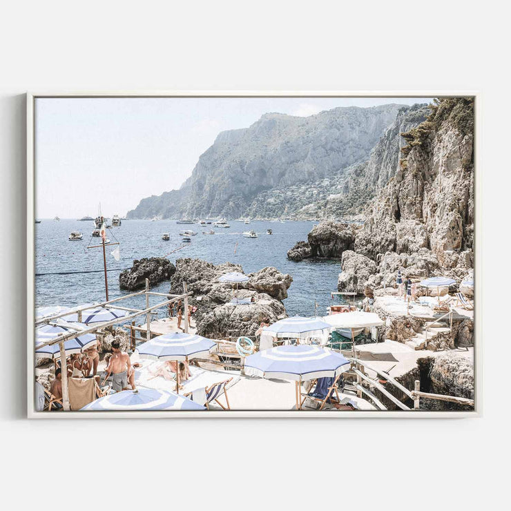 Print Workshop, Canvas Print, Amalfi Holiday, Floating Frame, White Smooth Coating