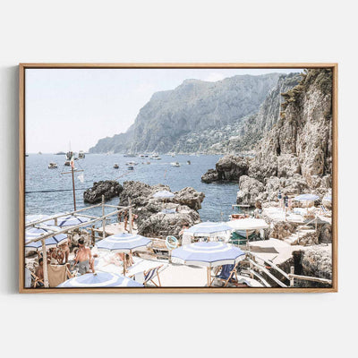 Print Workshop, Canvas Print, Amalfi Holiday, Natural Australian Oak Floating Frame