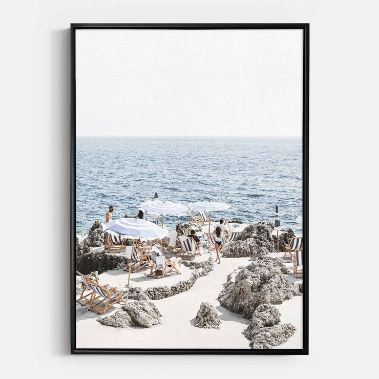 Print Workshop, Canvas Print, Amalfi Summer Time, Floating Frame, Black Smooth Coating