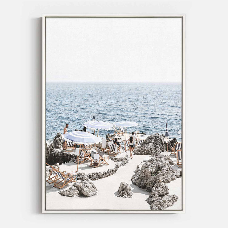 Print Workshop, Canvas Print, Amalfi Summer Time, Floating Frame, White Smooth Coating