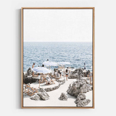Print Workshop, Canvas Print, Amalfi Summer Time, Natural Australian Oak Floating Frame