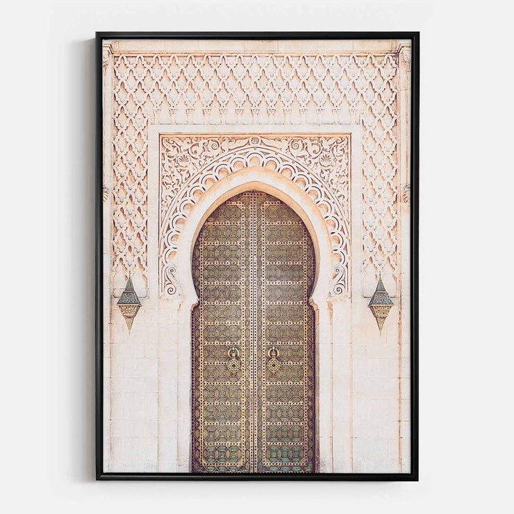 Print Workshop, Canvas Print, Moroccan Arch, Floating Frame, Black Smooth Coating