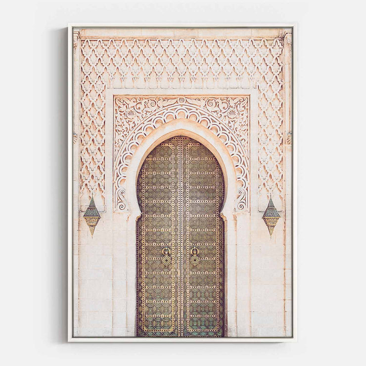 Print Workshop, Canvas Print, Moroccan Arch, Floating Frame, White Smooth Coating