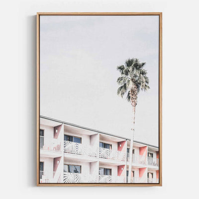 Palm Hotel Canvas