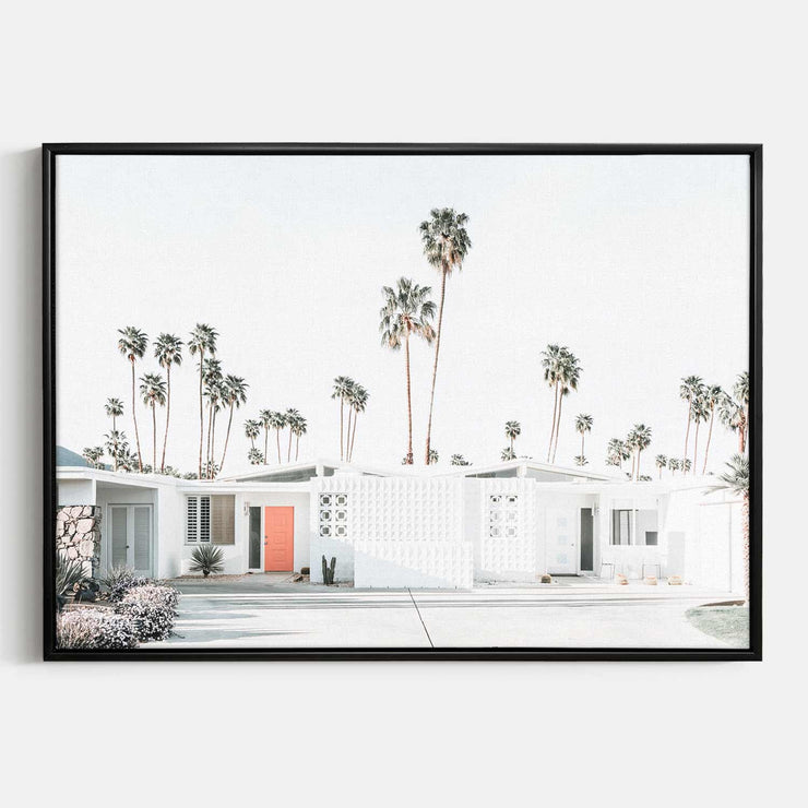 Print Workshop, Canvas Print, Palm Springs Drive, Floating Frame, Black Smooth Coating