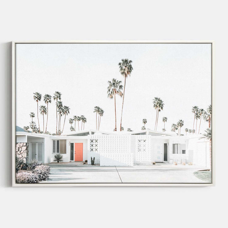 Print Workshop, Canvas Print, Palm Springs Drive, Floating Frame, White Smooth Coating