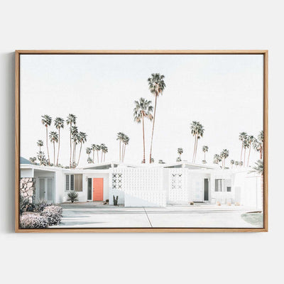 Print Workshop, Canvas Print, Palm Springs Drive, Natural Australian Oak Floating Frame