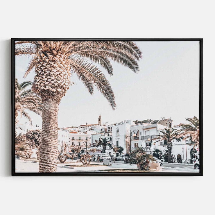 Palm Square Landscape Canvas