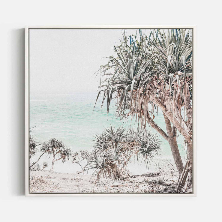 Print Workshop, Canvas Print (Square Size), Pandanus, Floating Frame, White Smooth Coating