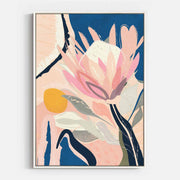 Print Workshop, Canvas Print, Protea And The Sun, Floating Frame, White Smooth Coating