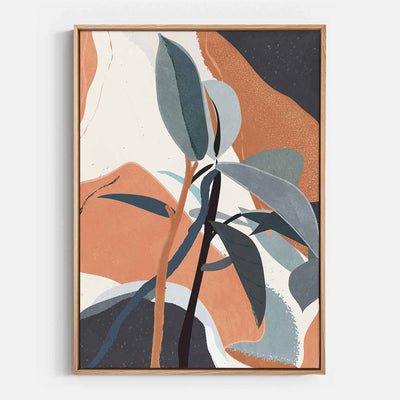 Print Workshop, Canvas Print, Shapes Of Rubber, Natural Australian Oak Floating Frame