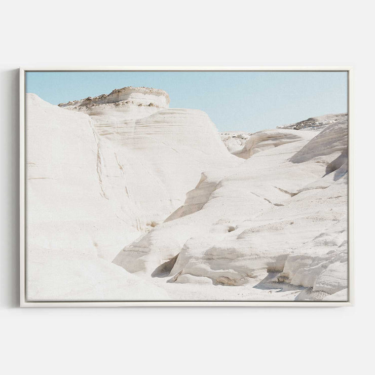 Print Workshop, Canvas Print, Sunlight At Moonscapes, Floating Frame, White Smooth Coating
