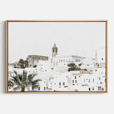 Print Workshop, Canvas Print, Vejer de la Fontera, Natural Australian Oak Floating Frame