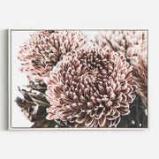 Print Workshop, Canvas Print, Vintage Floral #2, Floating Frame, White Smooth Coating