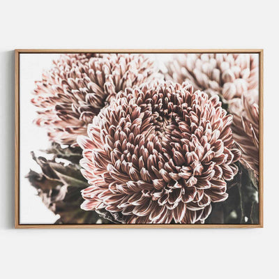 Print Workshop, Canvas Print, Vintage Floral #2, Natural Australian Oak Floating Frame