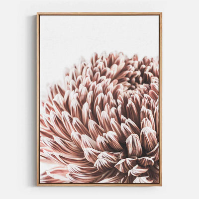 Print Workshop, Canvas Print, Vintage Floral #3, Natural Australian Oak Floating Frame