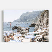 Print Workshop, Amalfi Holiday, Stretched Canvas, No Frame