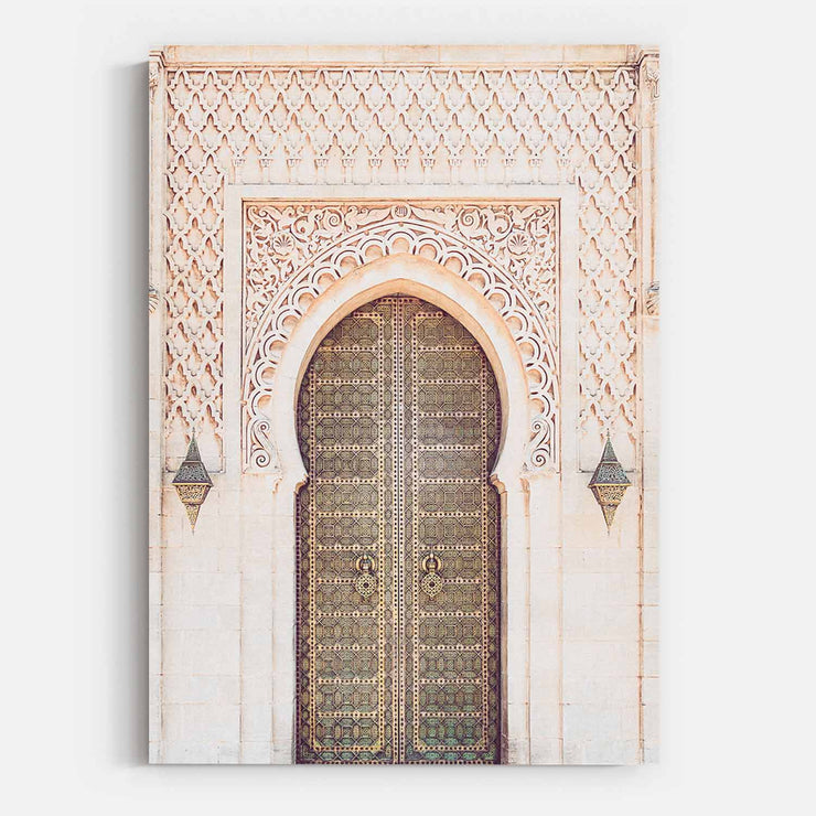 Print Workshop, Moroccan Arch, Stretched Canvas, No Frame