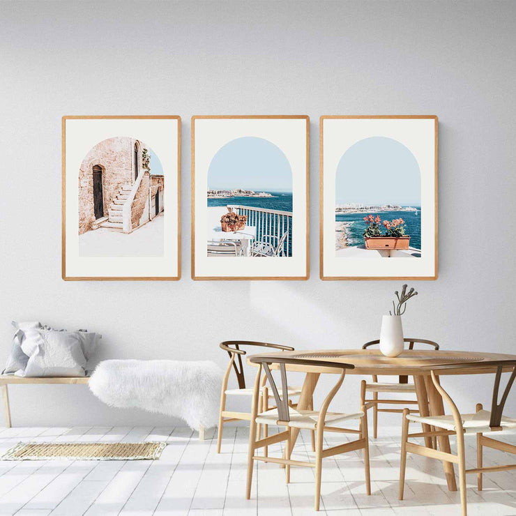 Set of 3: Scala, Balcony View & Coastal Morning Print