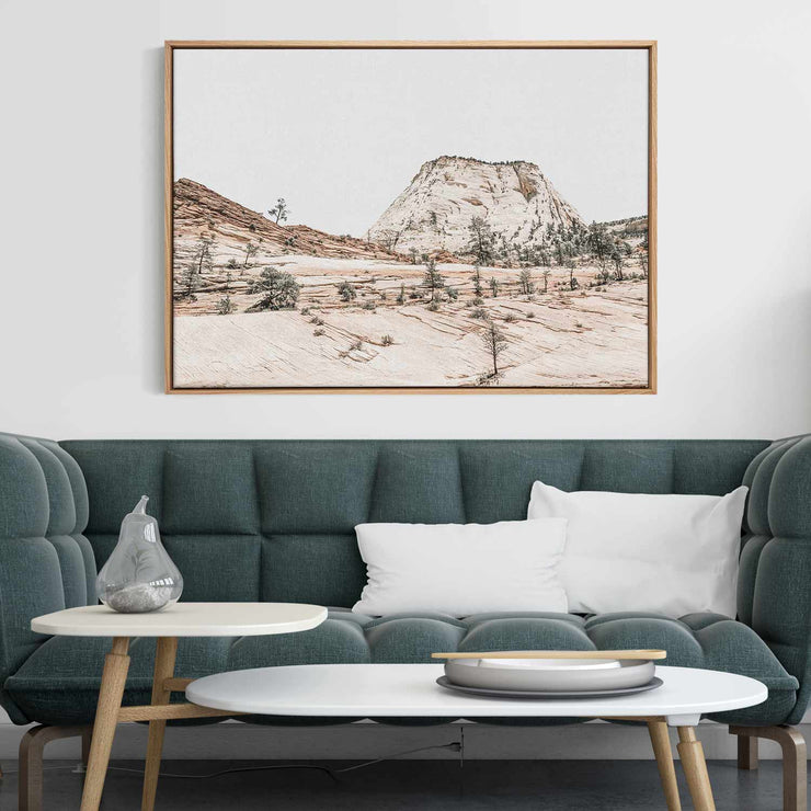 Beige Mountainscape Canvas Mockup