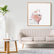 Rosie The Pink Cockatoo No.1 Framed Print Mockup