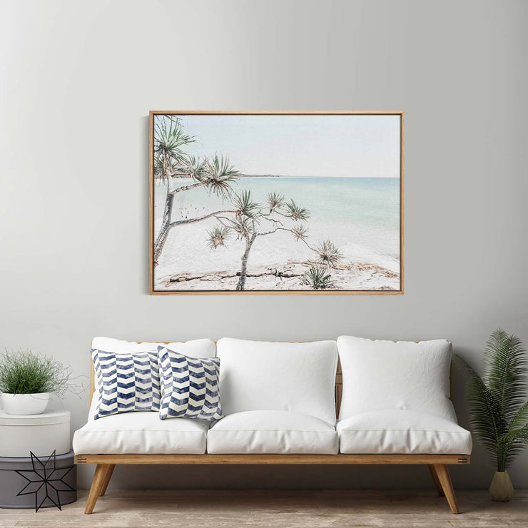 Summer Beach View Canvas Mockup