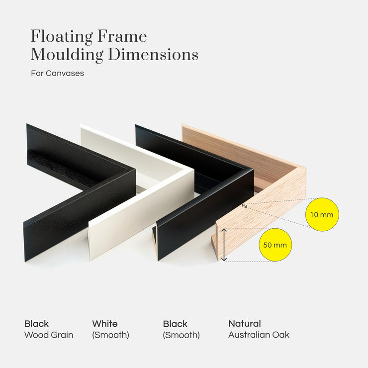 Floating Frame Moulding Dimensions
