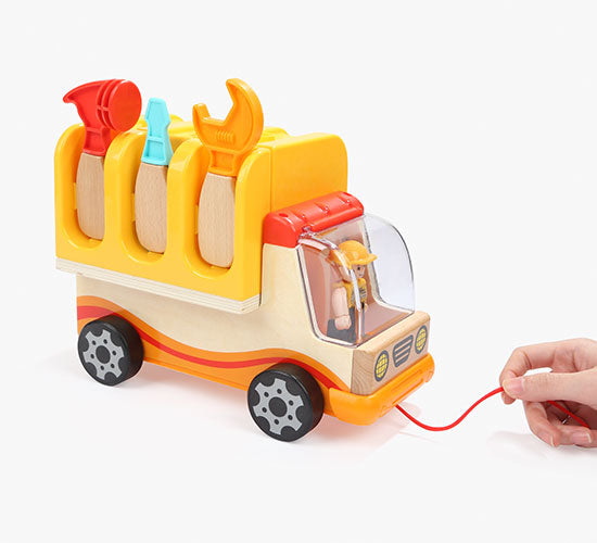 Fordable Work Bench Truck - Wooden toy Truck - 推动和拉动汽车