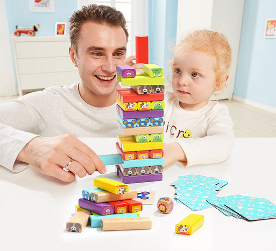 Stack animal blocks into a tower without making it fall. - Build The Tallest Tower!