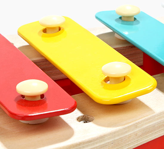 🎶 Wooden Puppy Pull-along Toy with Xylophone for Toddlers. - 5 Keys