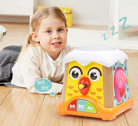 Baby Musical Chicken toy with 5 different ways to Play for 1 year up - 自动睡眠,更节能