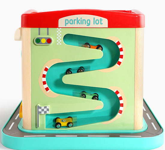 London Bus City Activity Cube -  Interactive Learning Toy for Kids - 停车场