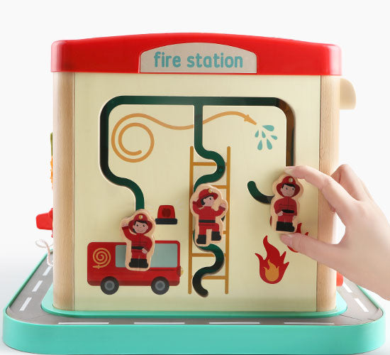 London Bus City Activity Cube -  Interactive Learning Toy for Kids - 消防站