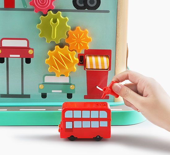 London Bus City Activity Cube -  Interactive Learning Toy for Kids - 维修店