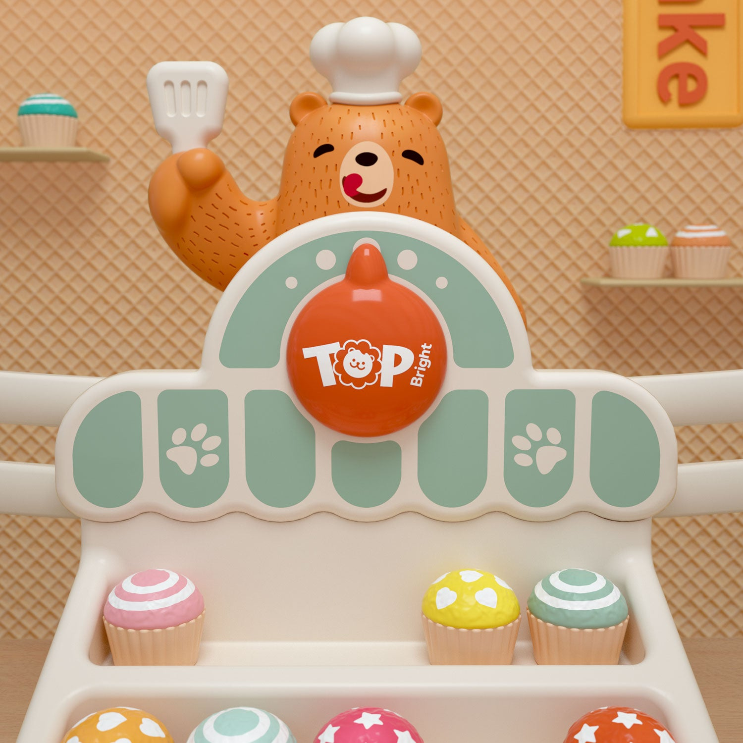 Yummy Bear 123 Scale - Teach Your Kids To Use A Scale! - 指针偏转