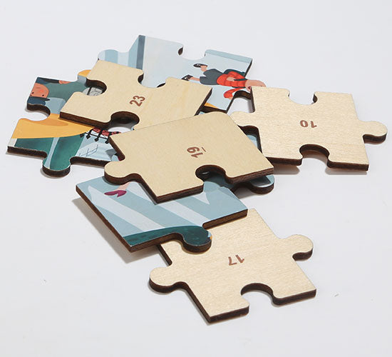 🧩 Wooden Puzzles in Steamship 🚢 - 数字指南孩子们的游戏
