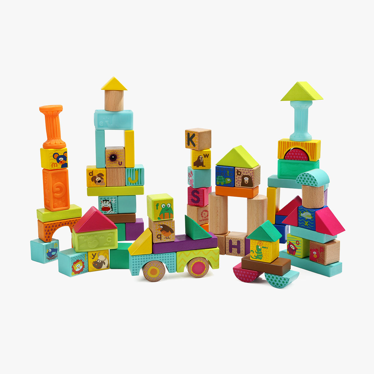 Animal Squeeze And Wooden Blocks