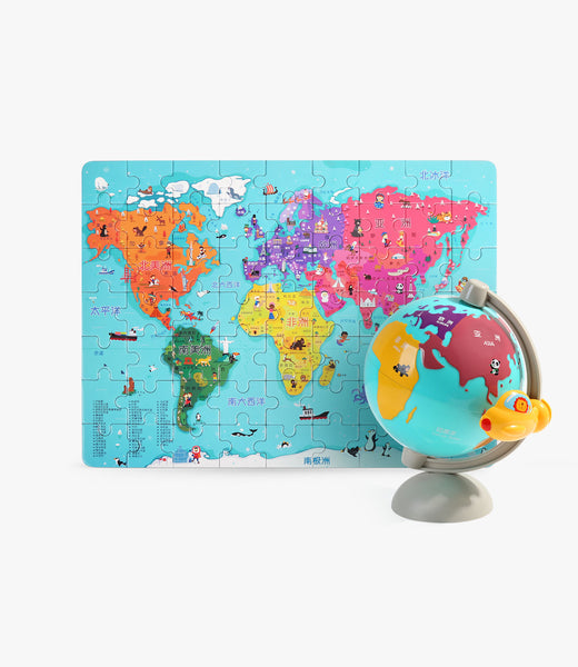 World Map Puzzle In Globe