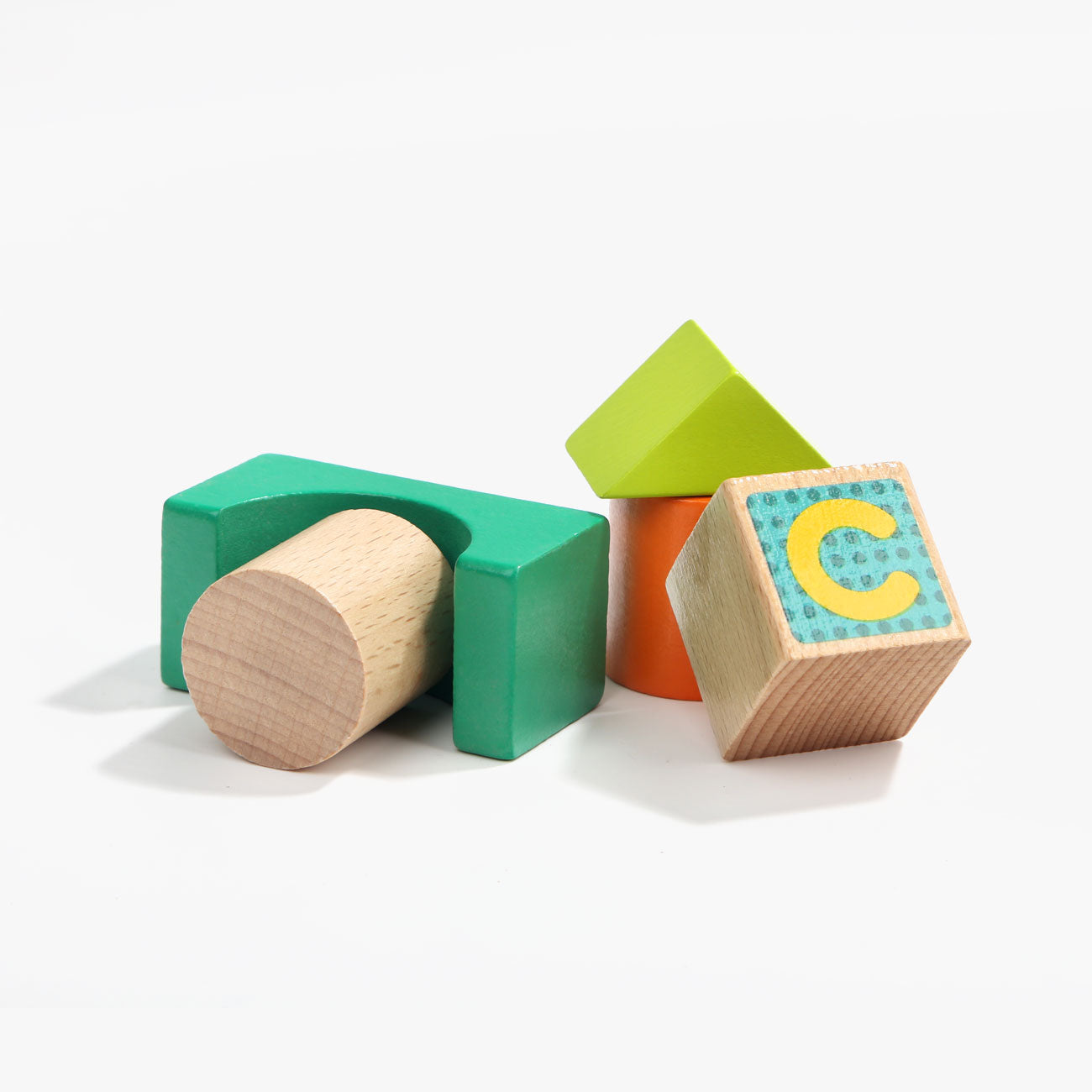 Wooden ABC.123 Animal Blocks