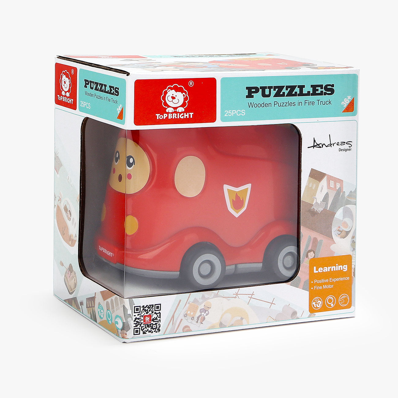 Wooden Puzzles in Fire Truck