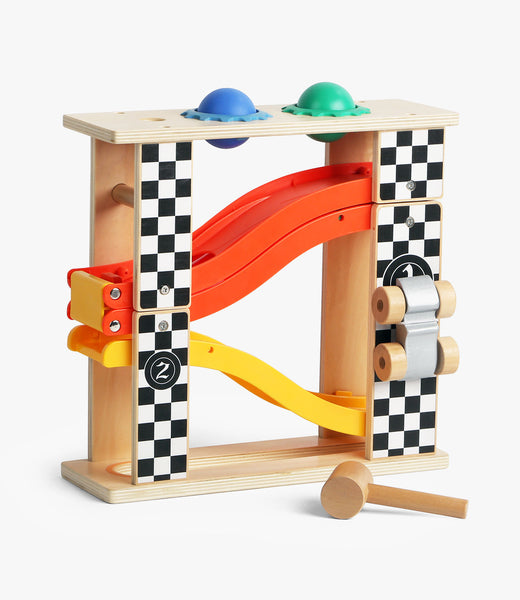 2 in 1 racing track & pounding bench