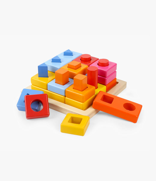 Shape block stacking