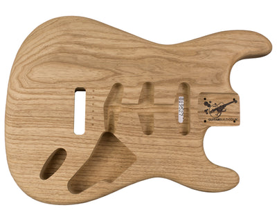 SC BODY 1pc Roasted Swamp Ash 1.3 Kg - 819527-Guitar Bodies - In Stock-Guitarbuild