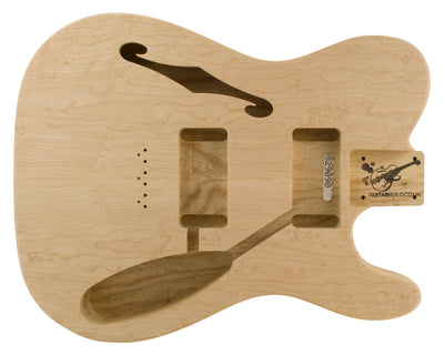 TC BODY 2pc Swamp Ash (Birdseye Maple Top) 1.7 Kg - 829090-Guitar Bodies - In Stock-Guitarbuild