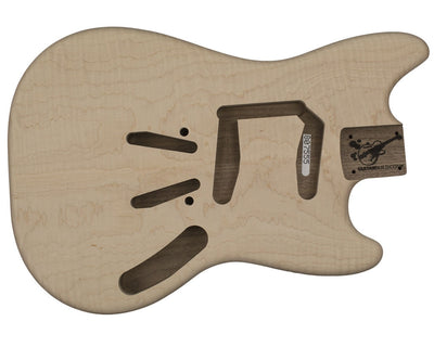 Guitar Bodies - MS BODY 2 pc Walnut curly maple top 2.3 KG - 807555 - Guitarbuild - 1