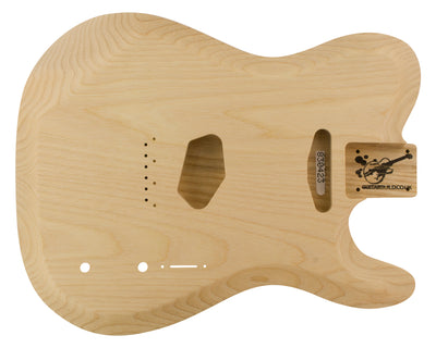 TC SS BODY - carved top + contours 2pc Baseball Bat Ash 2.5 Kg - 830423-Guitar Bodies - In Stock-Guitarbuild