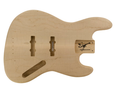 JB BODY 1960 2pc Swamp Ash (Flame Maple Top) 2.8 Kg - 828505-Bass Bodies - In Stock-Guitarbuild