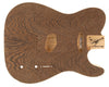 TC BODY 1pc Swamp Ash (Wenge Top) 2 Kg - 831758-Guitar Bodies - In Stock-Guitarbuild