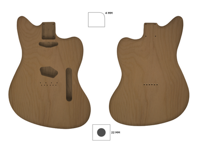TM CUSTOMISABLE-Guitar Bodies - Customisable-Guitarbuild
