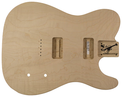 TC BODY 3pc Curly Maple Top - Swamp Ash 2.3 Kg - 819107-Guitar Bodies - In Stock-Guitarbuild